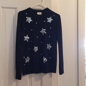 Kate Spade navy sweater, small,
